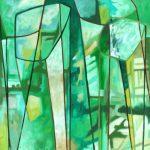 Green with Lines - Vert avec lignes - Michèle LaRose